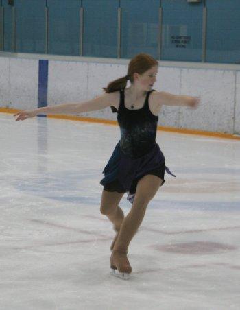 Ice skating practice
